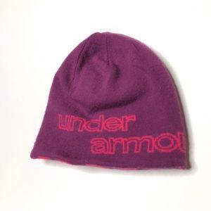 Under Armour purple & pink reversible beanie